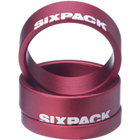 "Sixpack Menace Espaciador 1 1/8"", red"